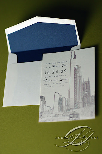 chicago save the dates gourmet invitations
