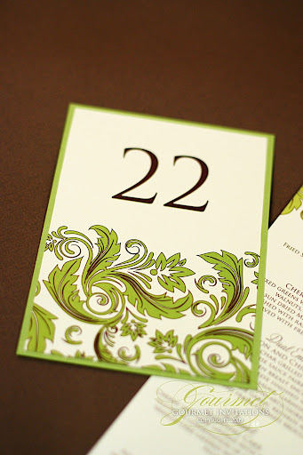 Lisa 39s Green Damask Wedding Reception Lisa 39s green damask is another