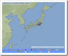 JP map - earthquake