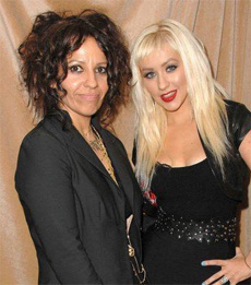 Linda Perry and Christina Aguilera