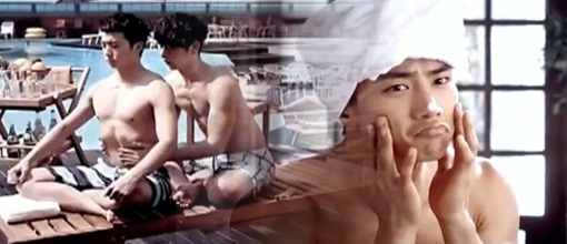 2PM's sunblock commercials