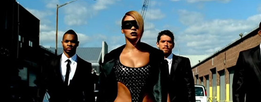 Beyoncé in her 'Video phone' music video