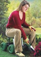 Jardinera en silla adecuada