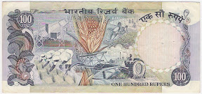 Images of 100 Rupees Notes Indian Currency