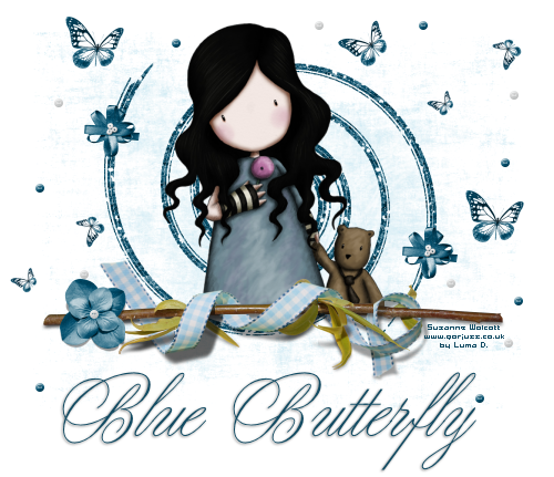 Tag Blue Butterfly