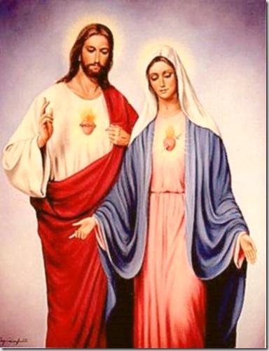 Jésus acompañado de Mamá María