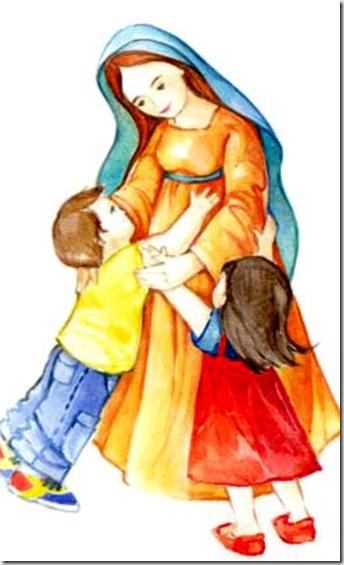 MAMÁ MARÍA AMA A LOS NIÑOS Y NIÑAS