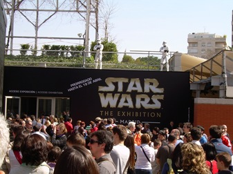 entrada a la exposición de Star Wars, Madrid
