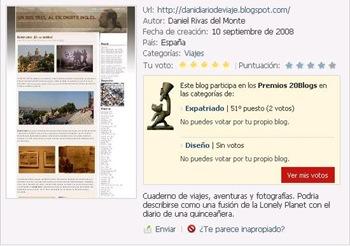 un dos tres al escondite inglés en los premios 20blogs