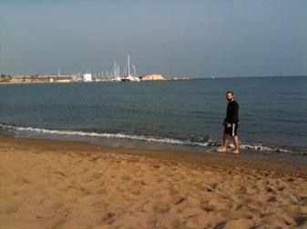 playa de la Barceloneta, 31 de Octubre de 2009