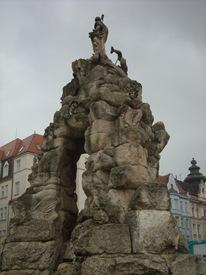 fuente del mercado de verdura, Brno