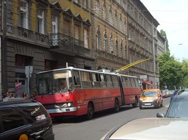 Trolebús en Budapest