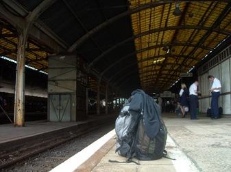 mi equipaje en la estación de Breslavia