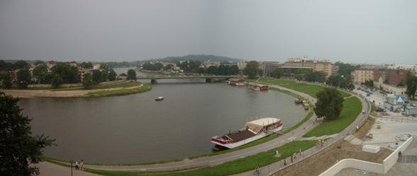río Wesla desde el castillo de Cracovia