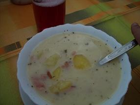 la sopa del menú