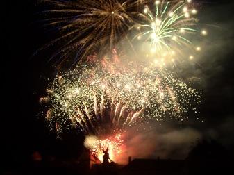 fuegos artificiales en Eger