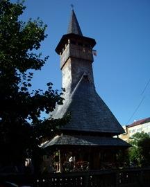 iglesia de madera en Baia Mare