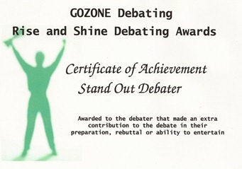 Debating Award 2011 2