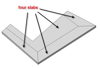 4 slabs