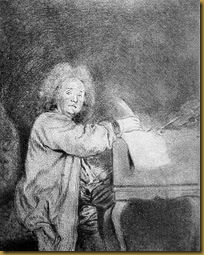 Jean-Féry Rebel, ca. 1710?, drawing by Antoine Watteau, Musée Magnin, Dijon (France).