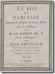 The cover page of a 1779 edition of the opera's score
