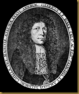 A portrait of the composer, engraved by Paulus Seel for Biber's Sonatae Violino solo (1681)