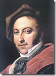 Portrait of Gioachino Rossini in 1820