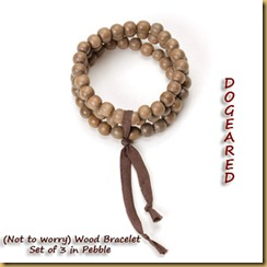 Dogeared (not to worry) Wood Bracelet 2W0W08D000196-20100907