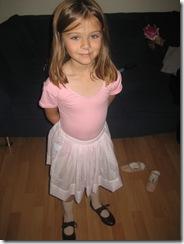 Emma gets her Ballet & Tap costume