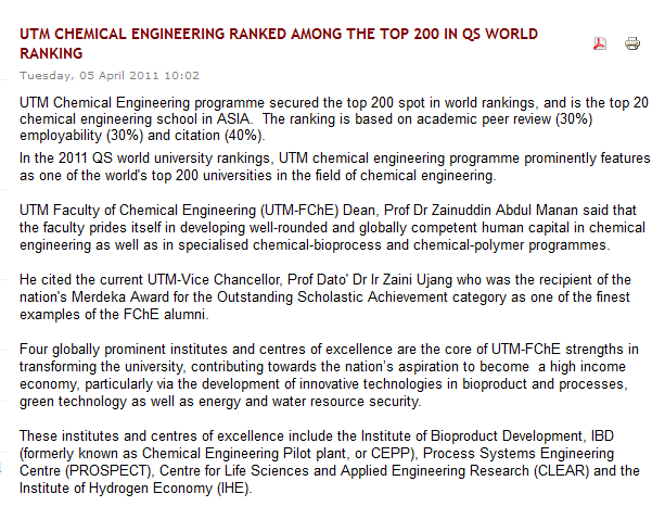 UTM Chemical Engineering