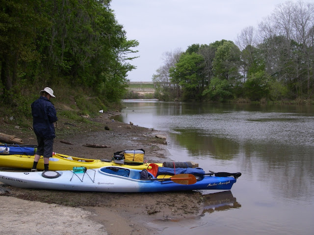 Kayaks loaded at Wilson's Landing