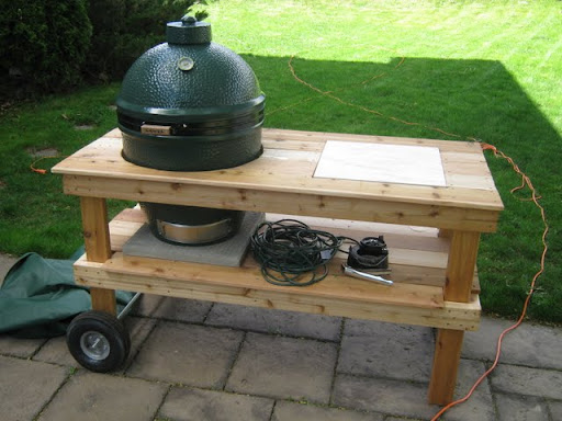 big green egg large table dimensions