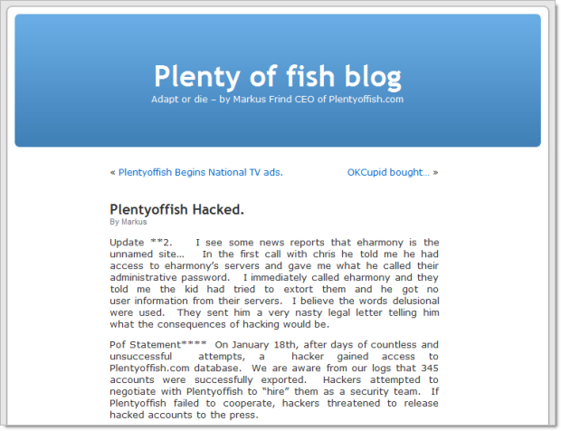 What to write on plenty of fish profile