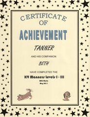 Puppy Manners Certificate