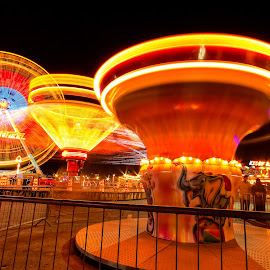 Remembering Childhood by Scott Lorenzo - City,  Street & Park  Amusement Parks ( rides, amusement park, night, circus, ferris wheel )
