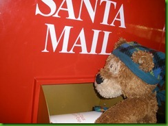 Sleepy Bear Mails Letter to Santa
