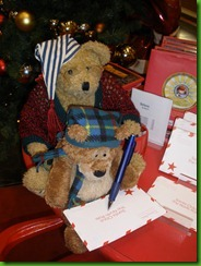 Grandpa Helps Sleepy Bear Write Letter to Santa