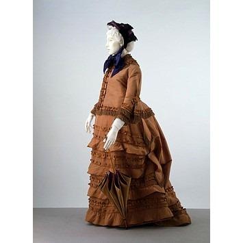 silk dress 1870