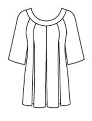 Mystery Dress line drawing