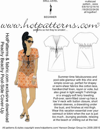 HP fabric.com PEACHY BEACHY POOLSIDE COVER UP ARTWORK