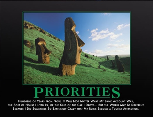 Priorities Poster @ www.despair.com