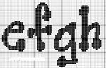 abecedarios punto de cruz. (188)