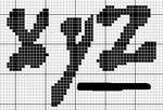 abecedarios punto de cruz. (184)