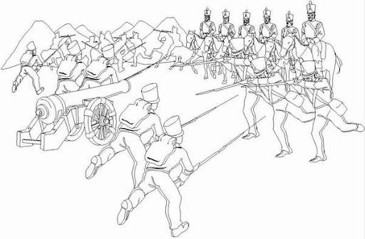 Dibujos para colorear sobre el 24 de junio batalla de carabobo