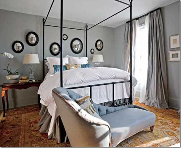 THatlantashowhouse mstr Westbrook Interiors ant mirrors custom chaise and bed by Wstbrook