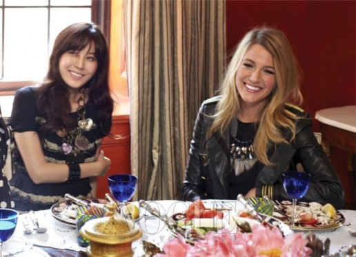 Kim Ha Neul and Blake Lively