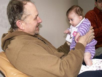 Elaine 10 Weeks with Grampa Hamilton
