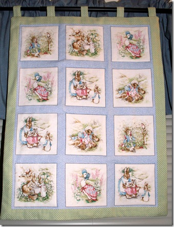 Beatrix Potter Wall Hanging for Baby