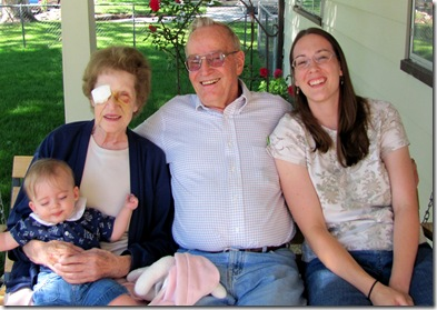 Elaine with Great Grandma & Grandpa Paul