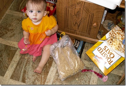 Elaine 9 months Cheerios